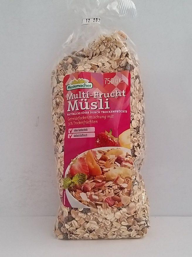 Muesli Con Frutas 750g