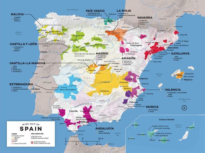 Spanish Map - Regions