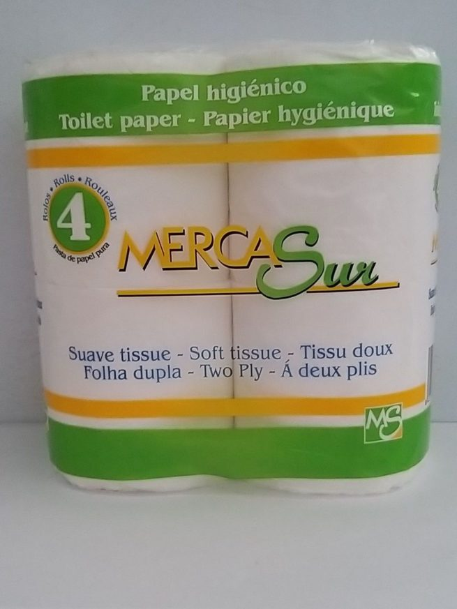 Mercasur Toilet Roll 4pk